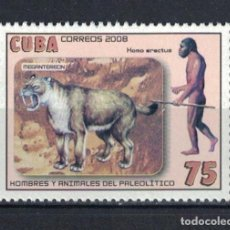 Sellos: ⚡ DISCOUNT CUBA 2008 MEGANTEREON & HOMO ERECTUS MNH - ANCIENT PEOPLE. Lote 261277510