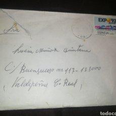Sellos: SOBRE CORREO Y SELLO EXPO'92.. Lote 261635500