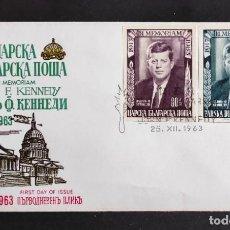 Sellos: BULGARIA - SOBRE DE PRIMER DIA EN MEMORIA DE J. F. KENNEDY. Lote 261673825