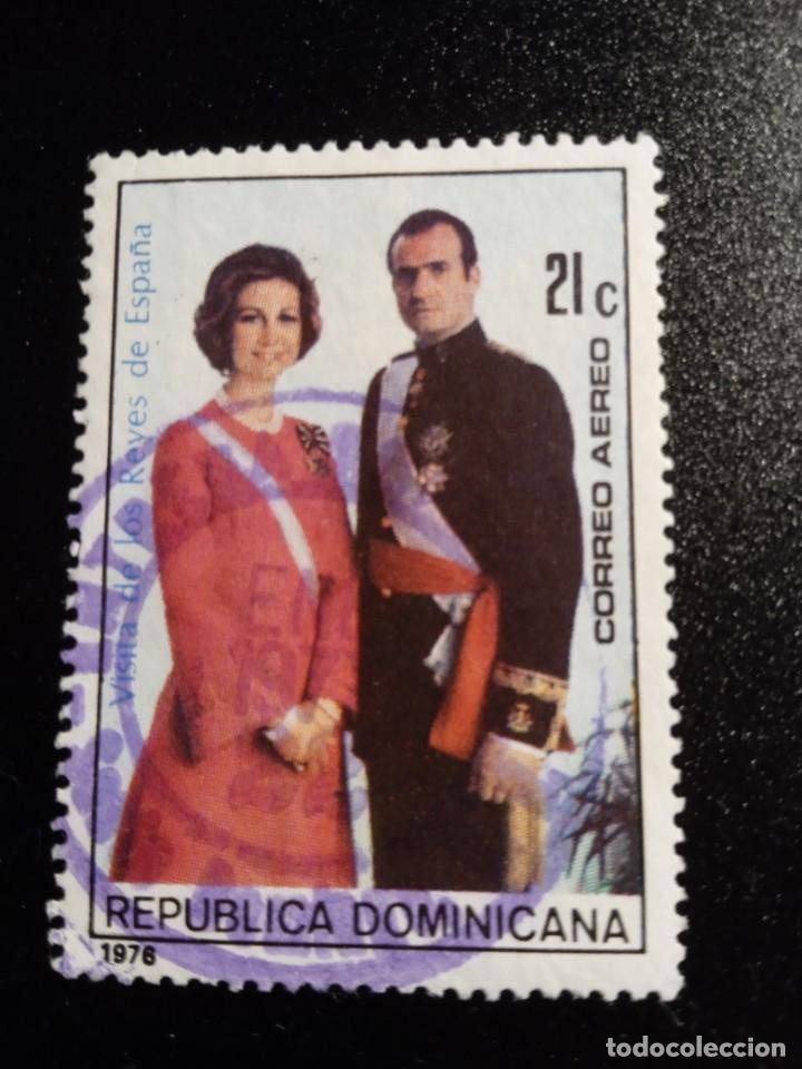 REPUBLICA DOMINICANA VISITA DE LOS REYES DE ESPAÑA AÑO 1976 (EA-135) USADO (Sellos - Temáticas - Historia)