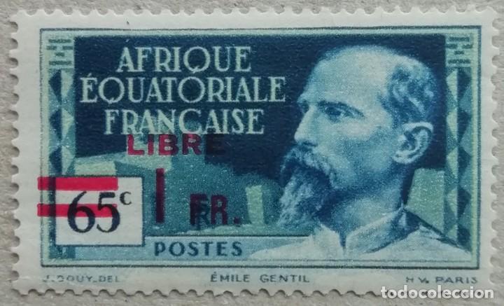 1944. ÁFRICA ECUATORIAL FRANCESA. TERRITORIO LIBRE DURANTE LA II GUERRA MUNDIAL. ÉMILE GENTIL. NUEVO (Sellos - Temáticas - Historia)