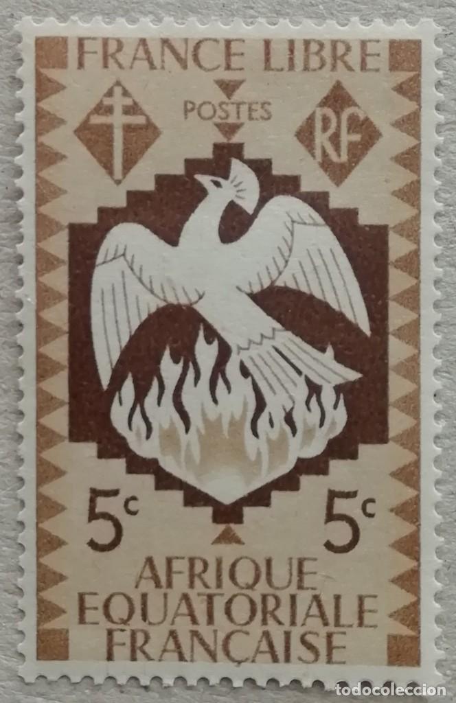 1941. ÁFRICA ECUATORIAL FRANCESA. 141. FRANCIA LIBRE. EMISIÓN DESDE LONDRES EN EL EXILIO. NUEVO. (Sellos - Temáticas - Historia)