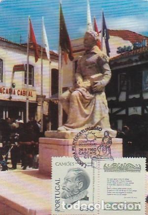 PORTUGAL & MAXI,VI CENTENARIO LUIS DE CAMÕES, EDICIÓN LUSIADAS, MONUMENTO, CASCAIS 1580-1980 (1470) (Sellos - Temáticas - Historia)