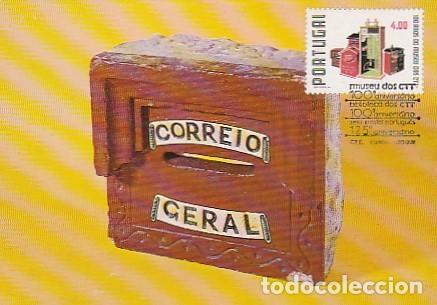 PORTUGAL & MAXI, 100 AÑOS DEL MUSEO CTT, CAJA DE PIEDRA DEL CORREO GENERAL, LISBOA 1978 (4674) (Sellos - Temáticas - Historia)
