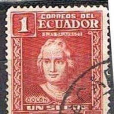 Sellos: ECUADOR IVERT 336 (AÑO 1936), CRISTOBAL COLÓN, USADO. Lote 263197880