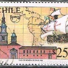 Sellos: CHILE, V CENTENARIO DEL DESCUBRIMIENTO DE AMÉRICA: CARABELA SANTA MARÍA., USADO. Lote 263198255