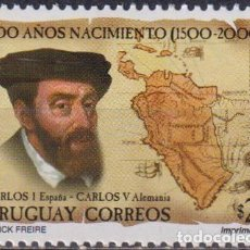 Sellos: ⚡ DISCOUNT URUGUAY 2000 THE 500TH ANNIVERSARY OF THE BIRTH OF CHARLES V MNH - CARDS, STATE L. Lote 265520954