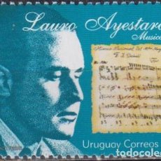 Sellos: ⚡ DISCOUNT URUGUAY 2003 CULTURAL HERITAGE - THE 90TH ANNIVERSARY OF THE BIRTH OF LAURO AYESTAR. Lote 265523054