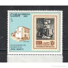 Sellos: ⚡ DISCOUNT CUBA 1983 THE 130TH ANNIVERSARY OF THE BIRTH OF JOSE MARTI, WRITER MNH - STATE LE. Lote 268833639