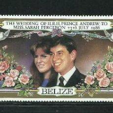 Sellos: BELIZE 1986 IVERT 808/10 *** BODA DEL PRINCIPE ANDREW Y MISS SARAH FERGUSON - MONARQUÍA. Lote 269103048