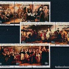 Sellos: AITUTAKI 1976 IVERT 163/71 *** BICENTENARIO INDEPENDENCIA ESTADOS UNIDOS - PINTURA - JOHN TRUMBULL. Lote 269255648