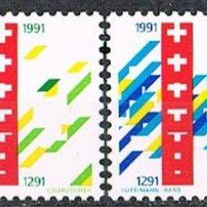 Sellos: SUIZA EDIFIL Nº 1353/4, 7º CENTENARIO DE LA CONFEDERACIÓN HELVETICA (SUIZA), NUEVO, SERIE COMPLETA. Lote 269450768