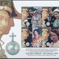 Sellos: ANTIGUA 2002 IVERT 3138/41 *** 50º ANIVERSARIO DE LA ASCENSIÓN AL TRONO DE S.M. LA REINA ISABEL II. Lote 269943783
