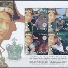 Sellos: GHANA 2002 IVERT 2799/802 *** 50º ANIVERSARIO DE LA ASCENSIÓN AL TRONO DE S.M. LA REINA ISABEL II. Lote 269944543