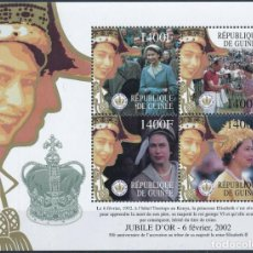 Sellos: GUINEA 2002 IVERT 2485/88 *** 50º ANIVERSARIO DE LA ASCENSIÓN AL TRONO DE S.M. LA REINA ISABEL II. Lote 269944763