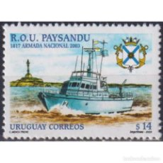 Sellos: ⚡ DISCOUNT URUGUAY 2003 THE 86TH ANNIVERSARY OF THE URUGUAYAN FLEET MNH - SHIPS, COATS OF AR. Lote 270390018