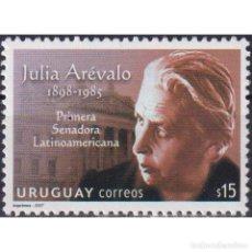 Sellos: ⚡ DISCOUNT URUGUAY 2007 INTERNATIONAL WOMEN, JULIA AREVALO MNH - FAMOUS WOMEN, COMMUNISM, UN. Lote 270390398