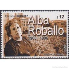 Sellos: ⚡ DISCOUNT URUGUAY 2010 ALBA ROBALLO MNH - FAMOUS WOMEN, LAWYERS. Lote 270390833