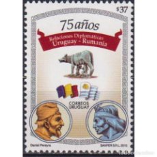 Sellos: ⚡ DISCOUNT URUGUAY 2010 THE 75TH ANNIVERSARY OF THE DIPLOMATIC RELATIONS WITH ROMANIA MNH -. Lote 270390878