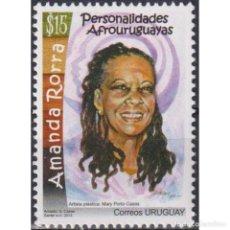Sellos: ⚡ DISCOUNT URUGUAY 2013 AFRO-URUGUAYAN PERSONALITIES - AMANDA RORRA MNH - FAMOUS WOMEN, POLI. Lote 270391503