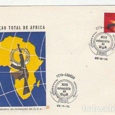 Sellos: ANGOLA & FDC XIII ANIVERSARIO DE LA O.U.A, TOTAL LIBERATION DE AFRICA, LUANDA 1976 (87686). Lote 271067733