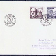 Sellos: SUECIA. 1978. SPD/FDC. PREMIOS NOBEL 1918. FÍSICA Y QUÍMICA. Lote 274329833