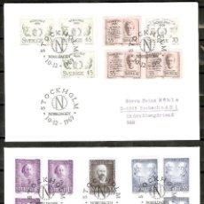 Sellos: SUECIA. 1969-70. FDC. PREMIOS NOBEL 1909-1910.. Lote 274330218
