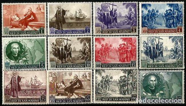 SAN MARINO 1952 COLON Y EL DESCUBRIMIENTO ** (Sellos - Temáticas - Historia)