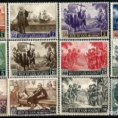Sellos: SAN MARINO 1952 COLON Y EL DESCUBRIMIENTO **. Lote 275573383