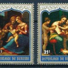 Sellos: BURUNDI 1979 IVERT 815/8 *** NAVIDAD - PINTURAS DE LA VIRGEN Y EL NIÑO Y ADORACIÓN DE LOS REYES. Lote 276643983