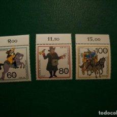 Sellos: /01.08/-ALEMANIA FEDERAL-1989-Y&T 1269/71 SERIE COMPLETA EN NUEVO(**MNH)-HISTORIA DE CORREOS. Lote 278599868