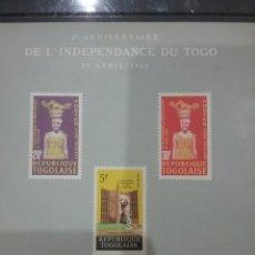 Sellos: HB R. TOGO (TOGOLAISE) NUEVA/1962/2ANIV/INDEPENDENCIA/MILITAR/TRAJES/TIPICOS/CESTA/ARTESANIA/FLORA/. Lote 278828518