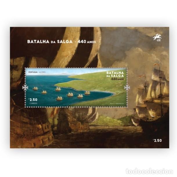 PORTUGAL ** & 440 AÑOS DE LA BATALLA DE SALGA, ISLA TERCEIRA, AZORES 1581-2021 (77761) (Sellos - Temáticas - Historia)