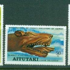 Sellos: AITUTAKI 1978 IVERT 221/ *** HISTORIA - BICENTENARIO DEL DESCUBRIMIENTO ISLAS HAWAI POR CAPITÁN COOK. Lote 280548793