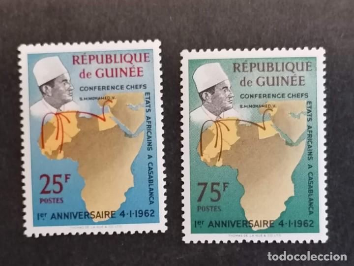 REUNION ESTADOS AFRICANOS SELLOS SERIE AÑO 1962 GUINEA BISSAU SELLOS EN NUEVO *** (Sellos - Temáticas - Historia)