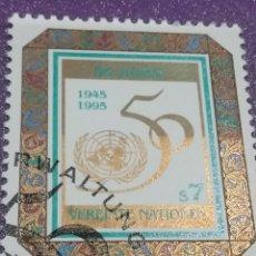 Sellos: SELLO NACIONES UNIDAS (VIENA) MTDOS/1995/50ANIV/FUNDACION/NN.UU/EMBLEMA/NUMERO. Lote 287778448