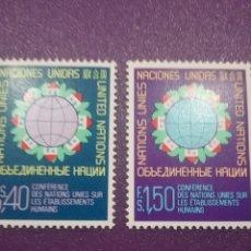 Sellos: SELLO NACIONES UNIDAS (GINEBRA) NUEVO/1976/CONFERENCIA/INTER/ASENTAMIENTO/HUMANO/CASAS/GLOBO/TERRAQU. Lote 288335493