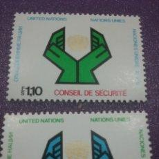 Sellos: SELLO NACIONES UNIDAS (GINEBRA) NUEVO/1977/CONSEJO/SEGURIDAD/MANOS/SIMBOLO/EMBLEMA///. Lote 288365123