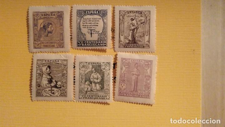 LOTE DE 6 SELLOS DEDICADOS AL VII CENTENARIO FRANCISCANO (Sellos - Temáticas - Historia)