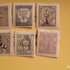 Sellos: LOTE DE 6 SELLOS DEDICADOS AL VII CENTENARIO FRANCISCANO. Lote 288387518