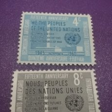 Sellos: SELLO N. UNIDAS (NUEVA YORK) NUEVO /1960/15ANIV/NN.UU/SEDE/ARQUITECTURA/ARTE/EDIFICIO/GUBERNAMENTAL/. Lote 289437178