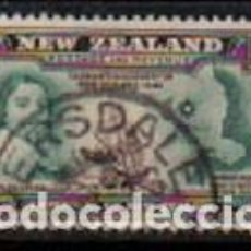 Sellos: NUEVA ZELANDA IVERT Nº 246 (AÑO 1940), CENTENARIO DE LA SOBERANIA BRITANICA SOBRE NUEVA ZELAN, USADO. Lote 296710808