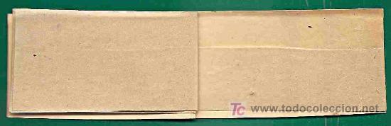 Sellos: PEQUEÑO ANTIGUO CLASIFICADOR INGLES 11X5 cm TAPAS DE SEDA HOJAS DE PAPEL MANTECA - 4 hojas - Foto 2 - 21196983