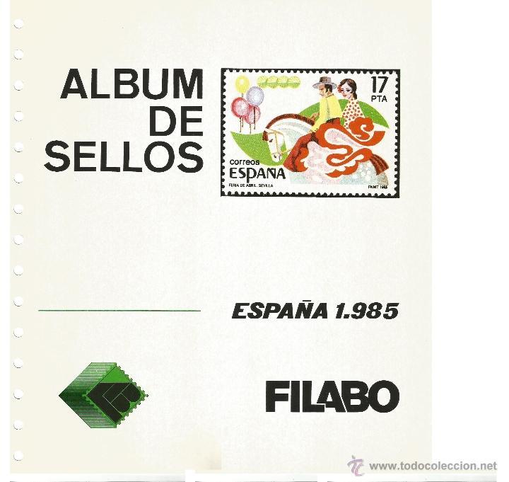 HOJAS ALBÚM DE SELLOS FILABO, ESPAÑA, AÑO 1985, COMPLETO Y MONTADO EN TRANSPARENTE (Sellos - Material Filatélico - Hojas)
