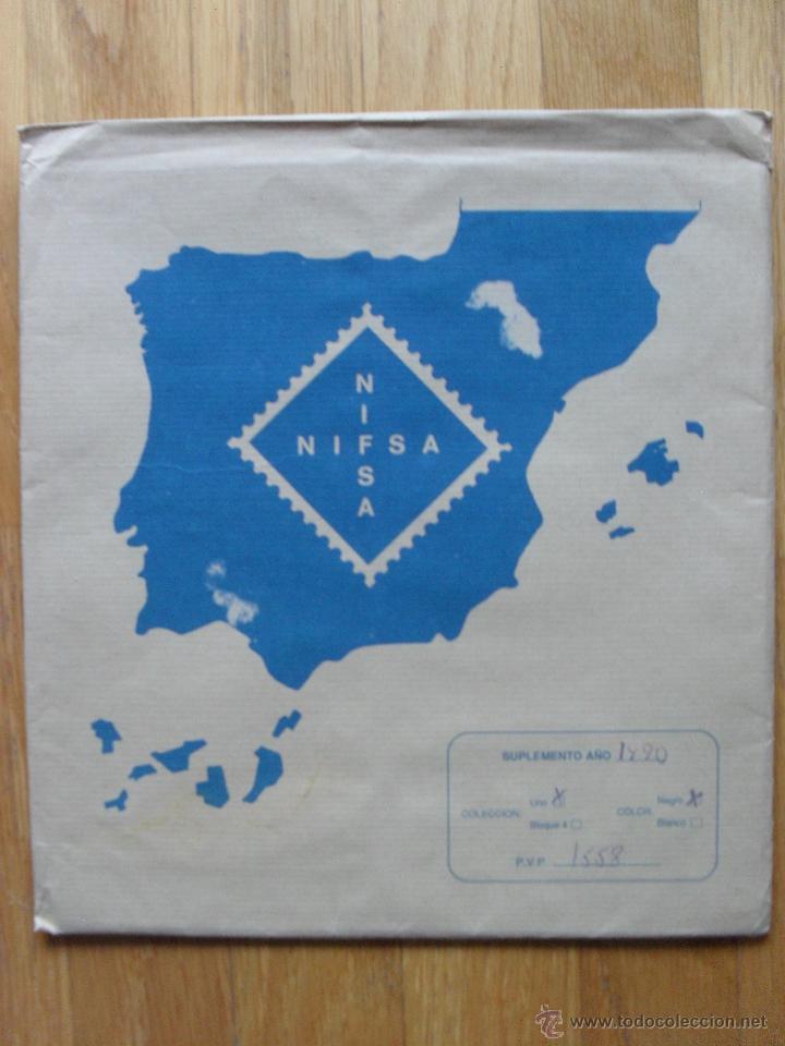 HOJAS DE SUPLEMENTO AÑO 1990 NIFSA,MONTADAS EN ESTUCHES NEGROS, VER FOTOS (Sellos - Material Filatélico - Hojas)