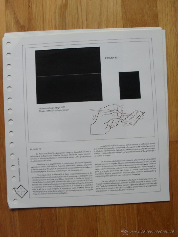 Sellos: HOJAS DE SUPLEMENTO AÑO 1990 Nifsa,Montadas en estuches negros, VER FOTOS - Foto 3 - 40012118