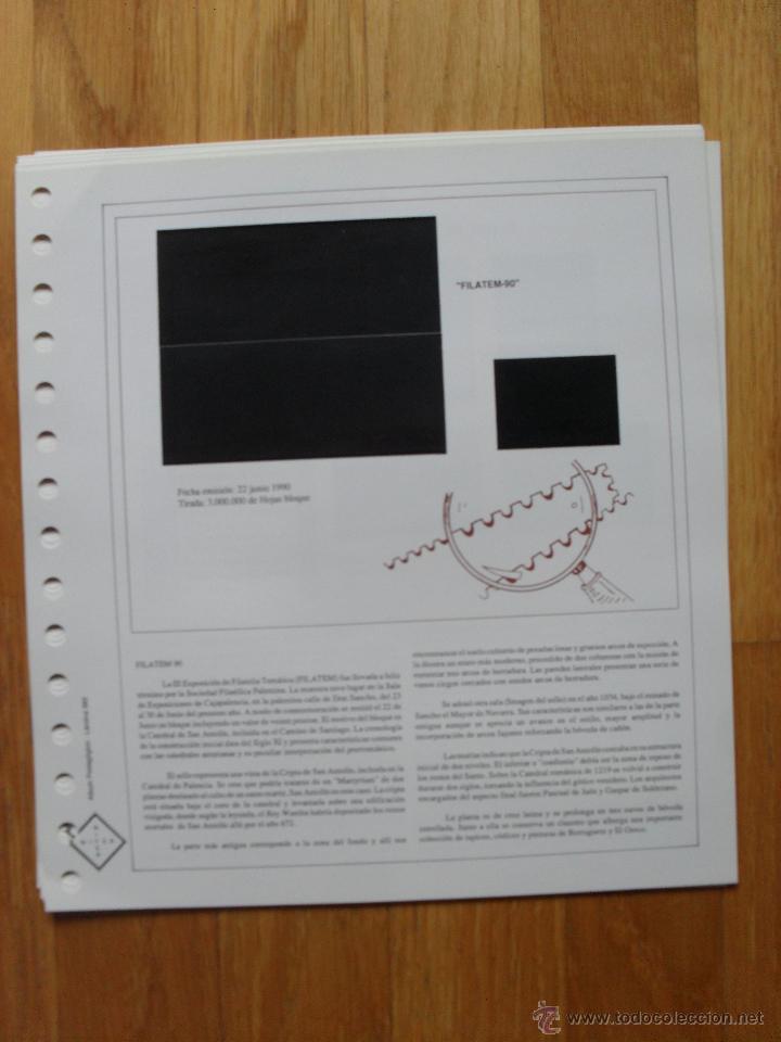 Sellos: HOJAS DE SUPLEMENTO AÑO 1990 Nifsa,Montadas en estuches negros, VER FOTOS - Foto 5 - 40012118