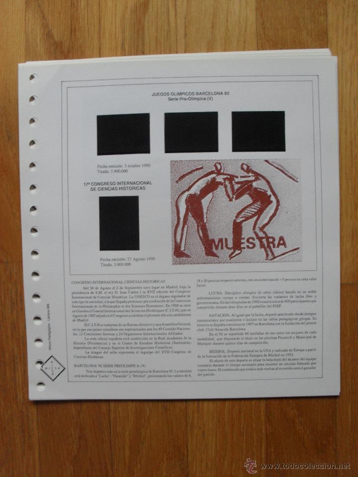 Sellos: HOJAS DE SUPLEMENTO AÑO 1990 Nifsa,Montadas en estuches negros, VER FOTOS - Foto 6 - 40012118