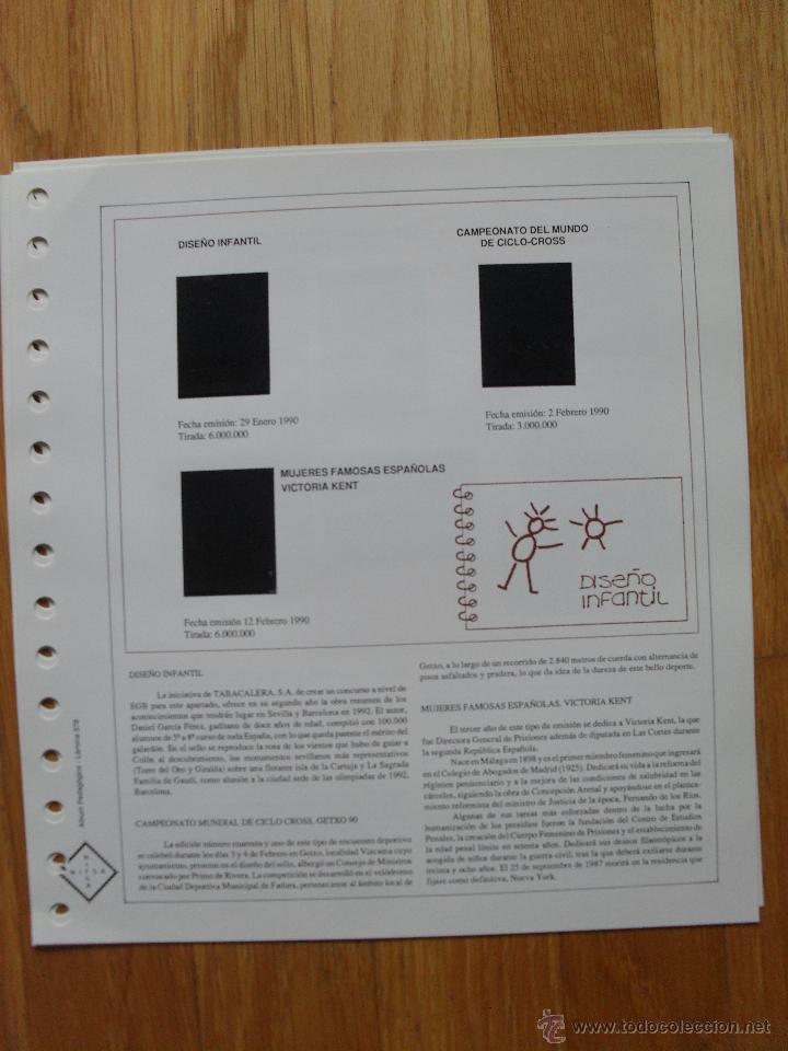 Sellos: HOJAS DE SUPLEMENTO AÑO 1990 Nifsa,Montadas en estuches negros, VER FOTOS - Foto 12 - 40012118