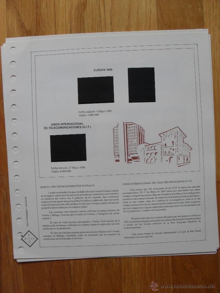 Sellos: HOJAS DE SUPLEMENTO AÑO 1990 Nifsa,Montadas en estuches negros, VER FOTOS - Foto 13 - 40012118